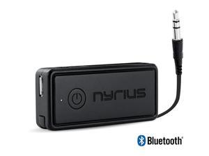 Nyrius Songo Portable Wireless Bluetooth Streaming Music Receiver Adapter for Car Audio, Headphones & Speaker Systems