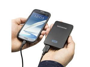 Magnasonic Portable 5000mAh Battery Backup Power Bank, Fast 2.1A Dual USB Charger for iPhone, iPad, Samsung, Android