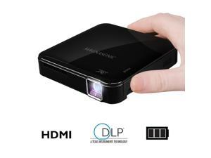 Magnasonic Mini Portable Pico Video Projector, HDMI, Battery, Speakers, 50 Lumens, Movies, Presentations, Smartphones