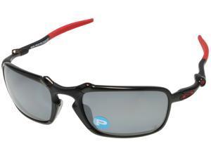 Oakley BADMAN Sunglasses OO6020-07 Carbon Black Iridium Polarized  Ferrari