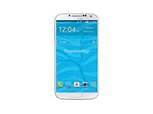 100% Free Mobile Phone Service w/ Samsung Galaxy S4 I9505, White - FreedomPop