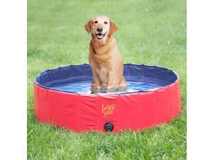 Frontpet Foldable Large Dog Pet Pool Bathing Tub (50 Inch X 11.8 Inch)