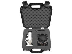 STUDIOSAFE Microphone Equipment Travel Hard Case with Customizable Foam - Fits Blue Microphones Yeti USB and Yeti Pro Mics  W/ Headphones , Pop Filter , Mounts and More Accessories