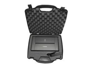 TOUGH Carrying Travel Mobile Printer Hard Case w/ Dense Foam fits CANON PIXMA iP110 , iP100 , Wireless Portable Printer , Charger , Ink Cartridge and Accessories