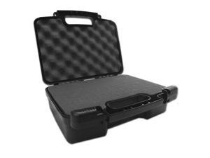 TOUGH Mini Desktop Carry Travel Case for Barebone Computer MotherBoard and Accessories - Works for Raspberry Pi 3 B , Pi 2 B+ , Touchscreen , Camera , w/ Chargers , Adapters , Power Supply , Mouse