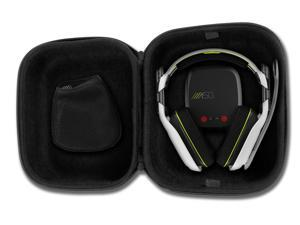 CASEMATIX Protective Gaming Headset Travel Case Bag – Fits ASTRO Gaming A50 , A40 TR , Halo A50 and Microphone with Wired or Wireless Headphones for PC Mac PS4 and XBOX