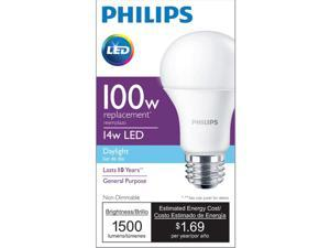 Philips 455717 100W Equivalent A19 LED Daylight Light Bulb