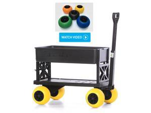 Plus One Garden Nursey Cart Hand Pull Wagon with Wheels Use Indoor Outdoor