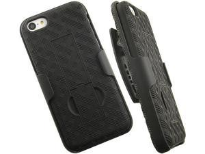 VERIZON OEM BLACK RUBBERIZED CASE COVER BELT CLIP HOLSTER STAND FOR iPHONE 5c