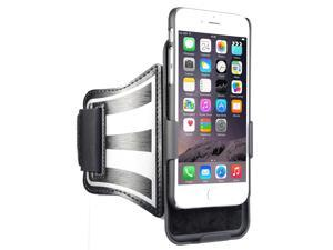 BLACK CASE COVER + ARMBAND STRAP COMBO ROTATING/REFLECTIVE FOR iPHONE 7