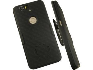 NEW BLACK HARD CASE COVER + BELT CLIP HOLSTER STAND FOR HUAWEI GOOGLE NEXUS 6P