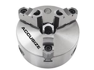 "AccusizeTools - 12"" 2-Piece Reversible Jaws 3-Jaw Chuck, Plain Back, x0.003"" T.I.R., #0559-0117"