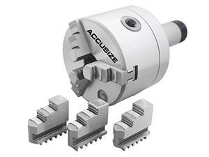 Accusize Tools - 4'' (100 mm) 5C Precision Lathe Chuck 3-Jaw Selfcentering Scroll, #0225-0234