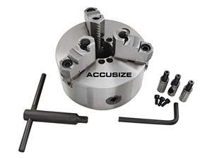 "Accusize - 12""/300mm D1-6 2-Pcs Reversible Jaws 3 Jaw Lathe Chuck, Direct Mount, #0559-0108"