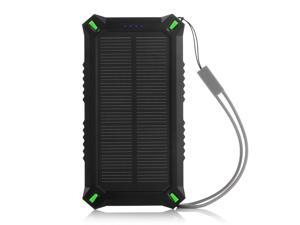 Poweradd 8000mAh 2 USB Waterproof Solar Power Bank for iphone Solar Battery Charger for Samsung