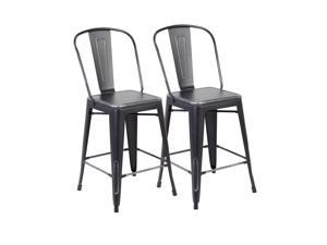 United Office Chair 26-inch Industrial Counter Dining Barstool with Back(set of 2)