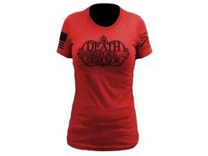 Grunt Style Death Before Dishonor - Ladies Men's T-Shirt, Size L