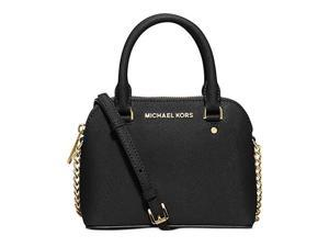 MICHAEL Michael Kors Cindy Xs Crossbody Saffiano Leather 18K, Color Black