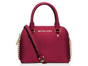 MICHAEL Michael Kors Cindy Xs Crossbody Saffiano Leather 18K, Color Cherry