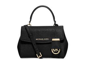 MICHAEL Michael Kors Ava Xs Crossbody Saffiano Leather 18K, Color Black