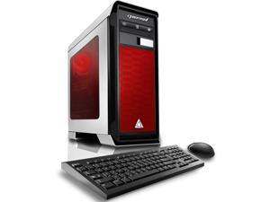 CybertronPC Gaming Desktop Computer Rhodium (White/Red) AMD FX-8300 (3.30 GHz) 16GB DDR3 1TB HDD NVIDIA GeForce GTX 950 2GB GDDR5 Logitech Keyboard and Mouse MS Windows 10 Home