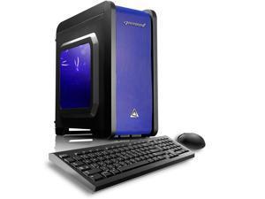 CybertronPC Gaming Desktop Computer Electrum (Black/Blue) Intel Core i5 6th Gen 6500 (3.2 GHz) 8GB DDR4 1TB HDD AMD Radeon R7 360 2GB GDDR5 Logitech Keyboard and Mouse MS Windows 10 Home