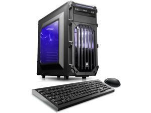CybertronPC Palladium (VR Ready) Gaming Desktop Computer (Black/Blue) Intel Core i5 6th Gen 6500 (3.2 GHz) 8GB DDR4 1TB HDD NVIDIA GeForce GTX 1060 6GB GDDR5 MS Windows 10 Home