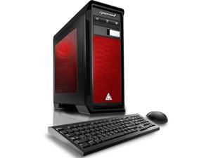 CybertronPC Gaming Desktop Computer Rhodium (Black/Red) AMD FX-8300 3.30GHz (8 Cores) 8GB DDR3 120GB SSD 1TB HDD AMD Radeon RX 470 4GB GDDR5 DVD-RW Drive MS Windows 10 Home 64-Bit