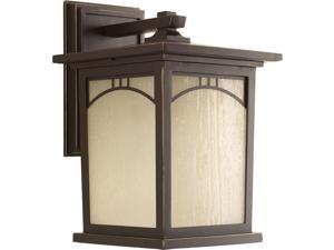 Progress Lighting  Residence Collection 1-Light Antique Bronze LED Wall Lantern