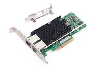 10gbe Dual Rj-45 Port Pcie X8 Nic Compatible Intel X540-t2 10 Gigabit