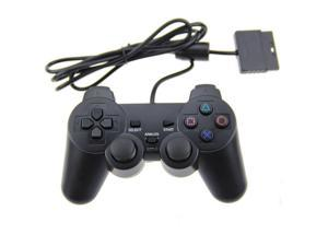 New BLACK PS2 Shock Controller (Sony PlayStation 2) Dual Vibration Gamepad