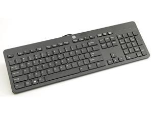 NEW HP Genuine USB Wired Black Keyboard KU1469 SK2120 - 803181-001