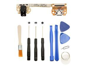 Games&Tech USB Charger Charging Dock Port Flex Cable Ribbon with Audio Jack Replacement Repair Part + Tools for Asus Google Nexus 7 ME370T