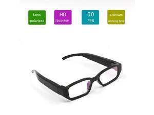 CBH Mini HD 1080P Spy Camera Glasses Hidden Eyewear DVR Video Recorder Cam Camcorder Security Glasses Camera SS1 Black