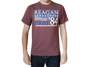 Reagan Bush 1984 Mens Maroon Heather T-shirt L