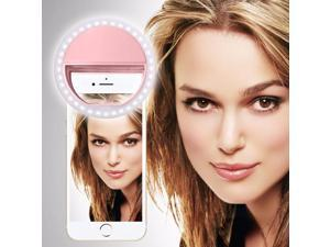 iTronixs - Vertex Impress XXL Selfie Ring Light 36 LED Light Ring Supplementary Selfie Lighting Night or Darkness Selfie Enhancing for Photography 3 Brightness Levels Adjustable - Pink