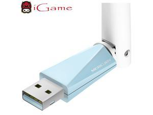 iGame Mercury MW150UH High Gain Wireless USB 2.0 Wi-Fi Adapter, 150Mbps 2.4GHz, Plug & Play in Window 7/8/8.1/XP (32/64bit)