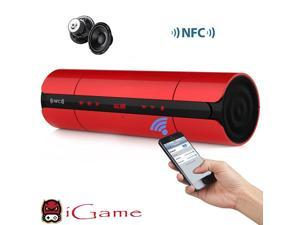 iGame Home Portable Bluetooth Speaker with NFC for Phone/Tablet/Laptop/PC - Red