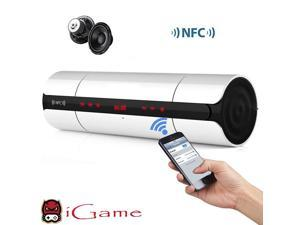iGame Home Portable Bluetooth Speaker with NFC for Phone/Tablet/Laptop/PC - White