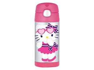 Thermos FUNtainer 12oz/355mL Stainless Steel Vacuum Insulated Straw Bottle (Hello Kitty) F4013HK