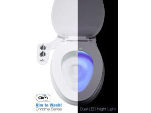 Bidet Attachment with Toilet Night Light - Dual Nozzles - Quick Release Feature - Self Cleaning