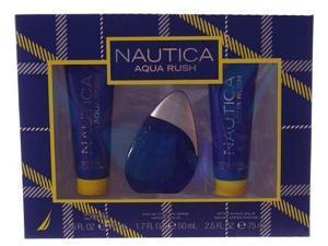 Nautica Aqua Rush 3 Pcs Gift Set For Men *SEALED* NA5997