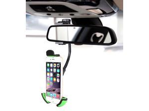 Car Mount, Beepels Universal Rear View Mirror Car Mount Smartphone Holder, with 360? Rotatable, including for iPhone 6, 6S Plus, Galaxy S7, S6 Edge, Adjustable Neck