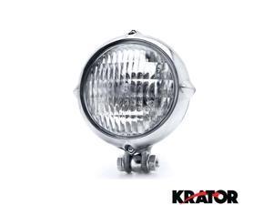 Krator® Vintage Style Chrome Motorcycle Headlight Retro For Vespa GTS GTV 250 300