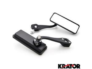 Krator® Custom Bull Dog Rear View Mirrors Black Pair For Vespa GTS GTV 250 300