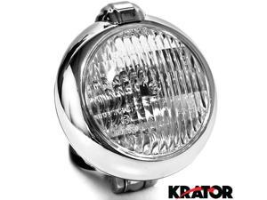 Krator® Universal Chrome Motorcycle Headlight with Bracket For Vespa GTS GTV 250 300