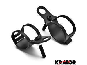 Krator® Black Turn Signal Mount Brackets Fork Ear 31-43mm For Vespa GTS GTV 250 300