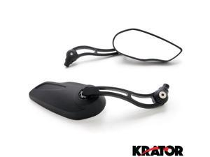 Krator® Custom Rear View Mirrors Black Pair w/Adapters For Kawasaki Concours Voyager ZG 1000 1200