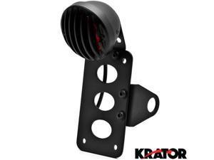 Krator® NEW Black Axle Mount Taillight Horizontal Vertical For Vespa GTS GTV 250 300
