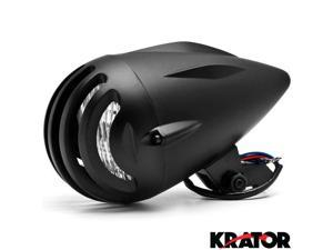 "Krator® 4 3/4"" Black Round Motorcycle Classic Headlight For Vespa GTS GTV 250 300"
